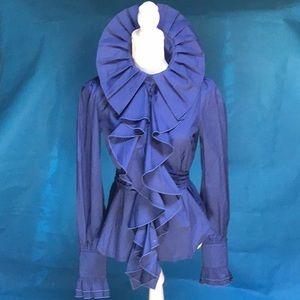 Victorian Choice waterfall ruffle blouse